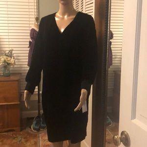 Ralph Lauren black velvet dress NWT